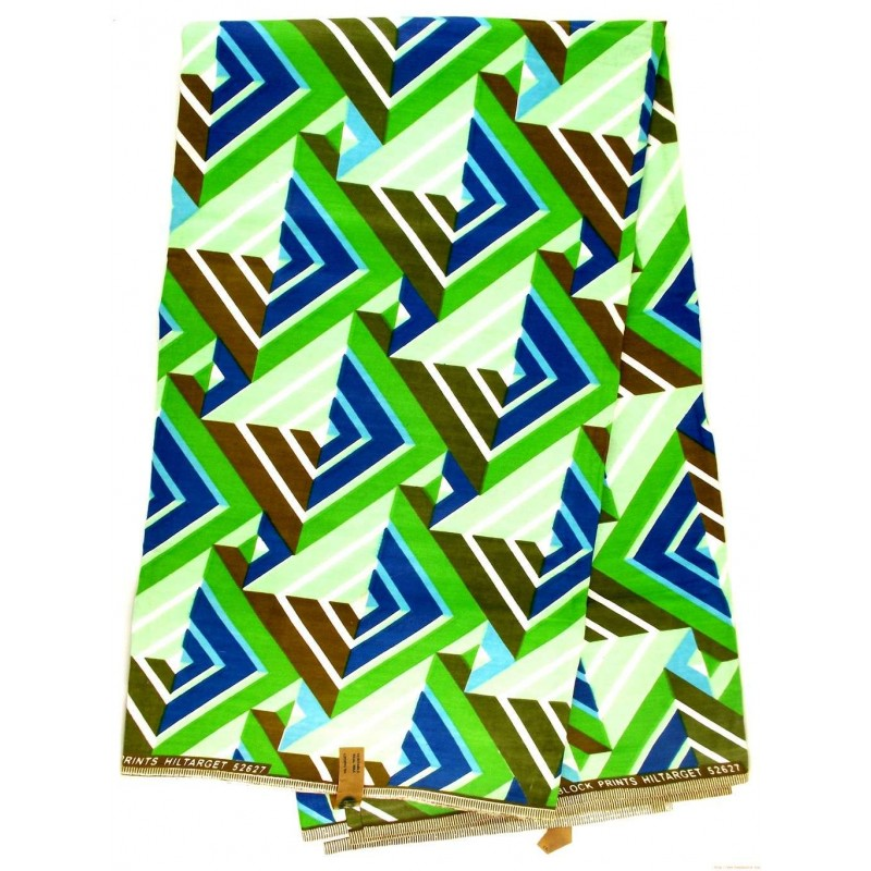 Tissu wax - illusion de carrés