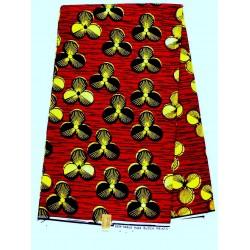 Tissu wax - fleurs