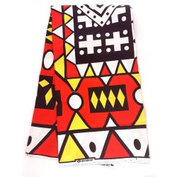 Pagne africain hitarget - cubisme